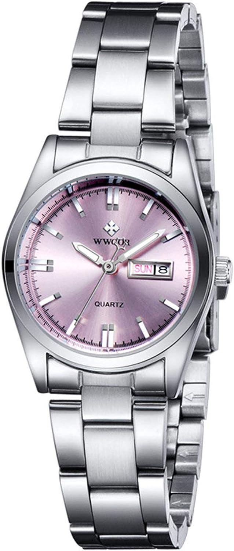 Wwoorr Quartz, Relojes Analógicos Moda Casual para Mujer con Banda de Acero Inoxidable