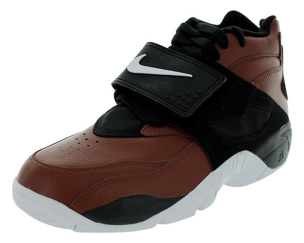 NIKE Men's Air Diamond Turf Field Brown/White/Black Size 9.5 by Nike (Image #1)
