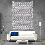 60 Inch Square Ottoman smallbeefly Ottoman Tapestry Wall Tapestry Turkish Traditional Ceramic Tulip Patterns Cultural Ottoman Royal Lines Design Art Wall Decor 60W x 80L INCH Multi