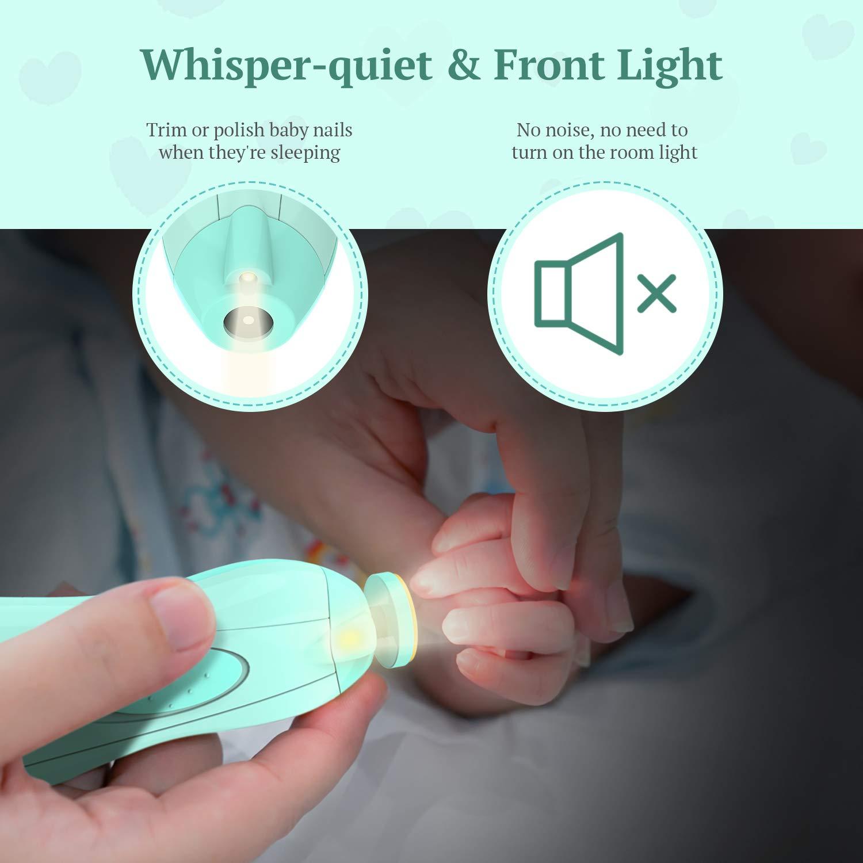 Amazon.com: Limpiador de uñas eléctrico para bebé, limpiador ...
