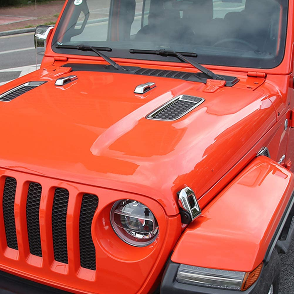 NINTE Tailgate Hinge Cover for Jeep Wrangler JL 2018 2019 ABS Chrome Rear Door Panel Trim Covers