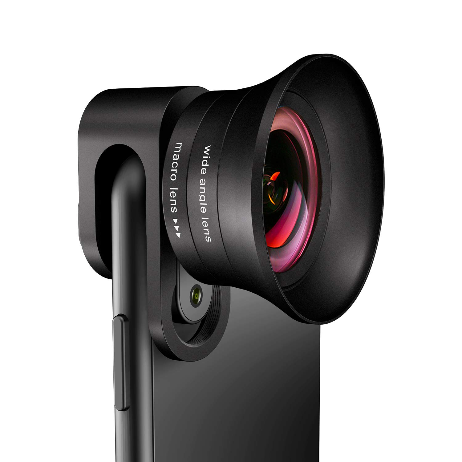 Phone Camera Lens Pro - ANGFLY 4K HD 2 in 1 Aspherical Wide Angle Lens & Super Macro Lens,Clip-On Cell Phone Camera Lenses Compatible with iPhone,Android,Samsung Mobile Phones and Tablets by ANGFLY