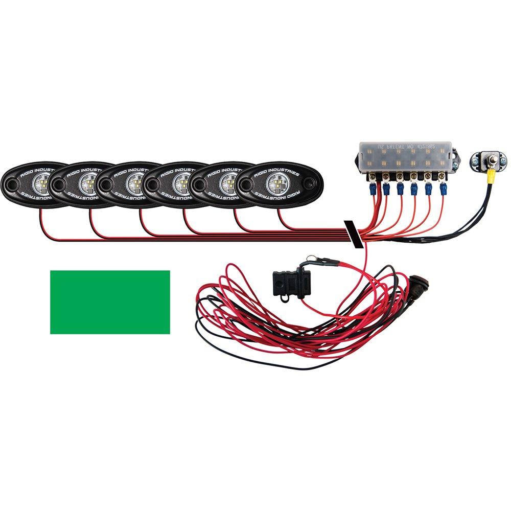 Rigid Industries Signature Series Deck Kit - 6 Green Lights
