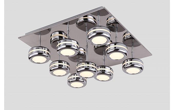 Plafoniera Quadrata Led Soffitto : Led spot plafoniera quadrata a ella lampada da soffitto in cromo
