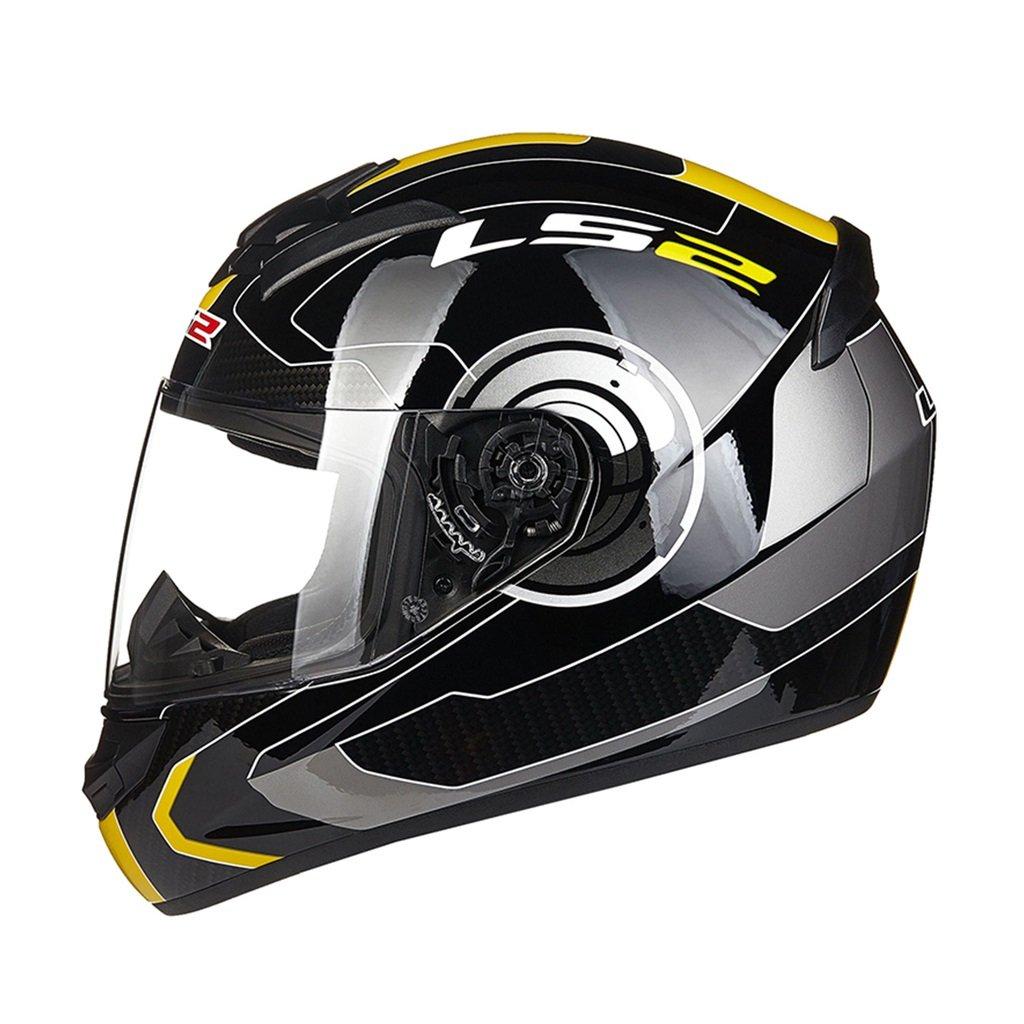 オートバイのヘルメットの男性と女性のフルカバーのヘルメット機関車フルヘルメットの性格のパターン (Color : Silver, Size : XXL)   B07G8YKH6X