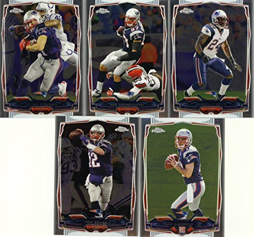 New England Patriots 2014 Topps Chrome NFL Football Complete Mint 5 Card Team Set Including Tom Brady, Rob Gronkowski, Darrelle Revis, Julian Edelman and Jimmy Garoppolo Rookie Card
