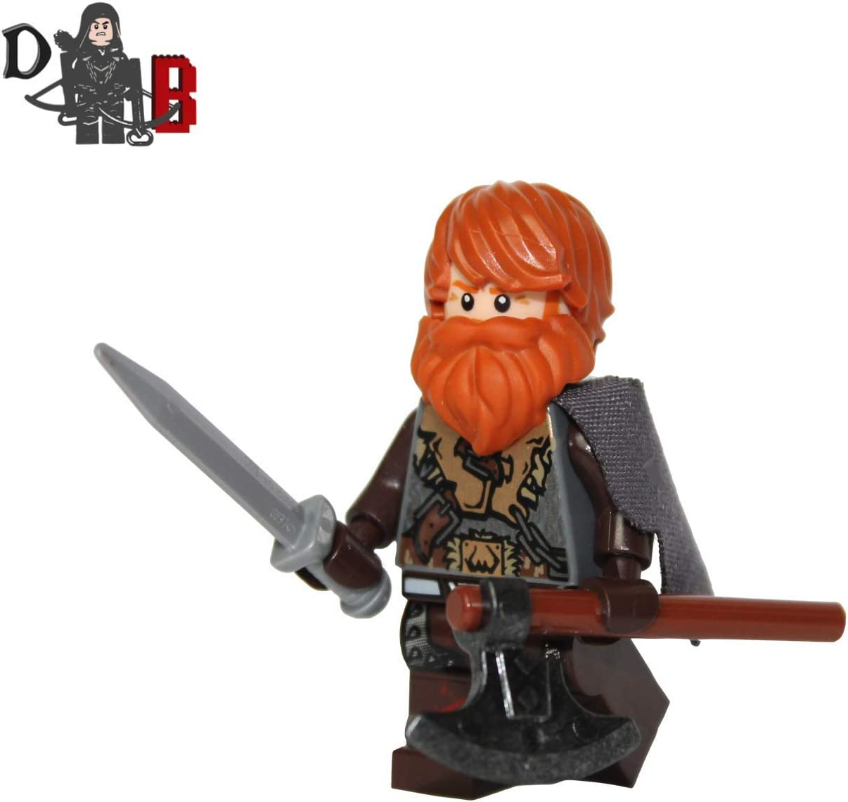 Demonhunter Bricks Custom Game of Thrones Tormund Giantsbane Minifigure Made Using Lego & Custom Parts