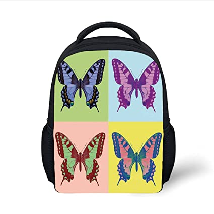 Amazon.com  iPrint Kids School Backpack Butterflies Decorations 80c3d2ad11928