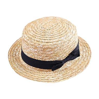 172101da67dfd YOUJIA Unisexo Niños Sombreros de Paja de Sol