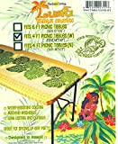 Kauhale Living Hawaiian Tropical Picnic Tablecloth (Fits 4 feet picnic tables 48''x30'', spicing up any party)