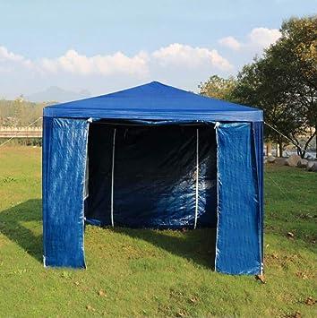 ZFLL Tienda Nuevo 3x3M Carpa Plegable de toldo de Sombra al Aire Libre Impermeable Sun Shelter Gazebo Party Marquee Camping Picnic Tent Pergola Toldo Toldo, Azul: Amazon.es: Deportes y aire libre