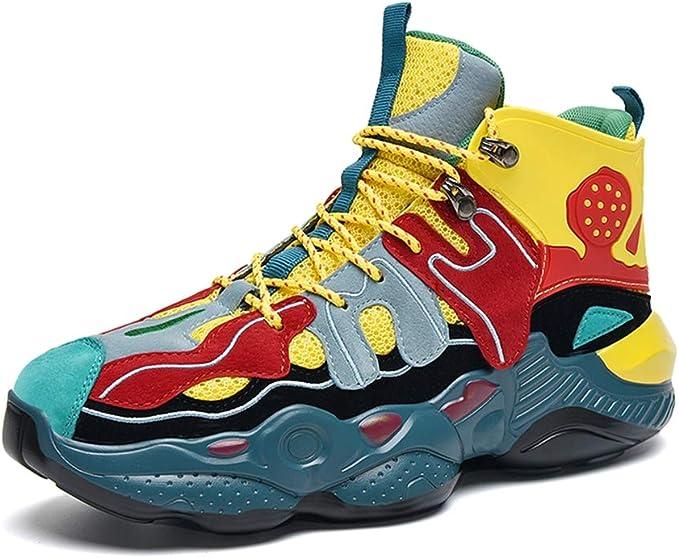 Zapatos para correr para hombre, zapatillas de deporte tejidas ...
