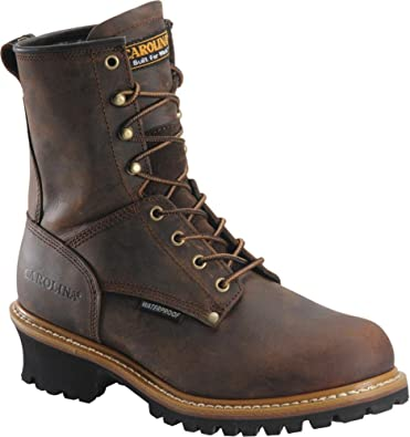 Men's Insulated Carolina Boots Size 11.5 Brown Leather