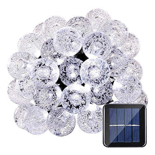 Qedertek Globe Solar String Lights, 19.7ft 30 L...