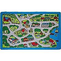 Kids Rug Street Map in Grey 5' X 7' Children Area Rug -...