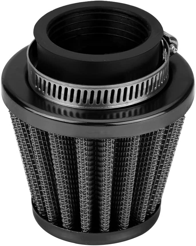 Qiilu 38mm Air Filter Intake Induction Kit for Off-Road Motorcycle ATV Quad Dirt Pit Bike Black