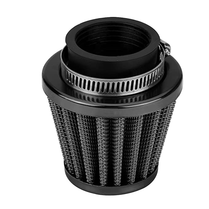 Gr/ün 38mm Universal Motorrad Luftfilter Clamp-On Luftansaugfilter Set Vergaser Motorrad Dirt Bike ATV Roller
