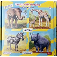Learn with Puzzles wild animals