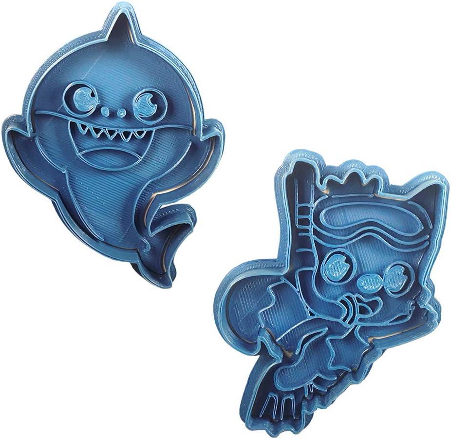 Cuticuter Pinkfong and Baby Shark Cookie Cutter, PLA