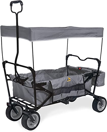 Pinolino Paxi Opvouwbare Bolderwagen, Draagvermogen 70 Kg, 124 x 59 x 102, Grijs