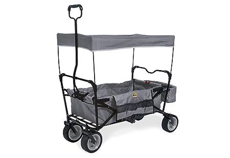 Pinolino Klappbollerwagen Paxi, faltbar, inkl. Sonnendach, Hecktasche und Tragetasche, PU-Bereifung, Tragfähigkeit 70 kg, gra