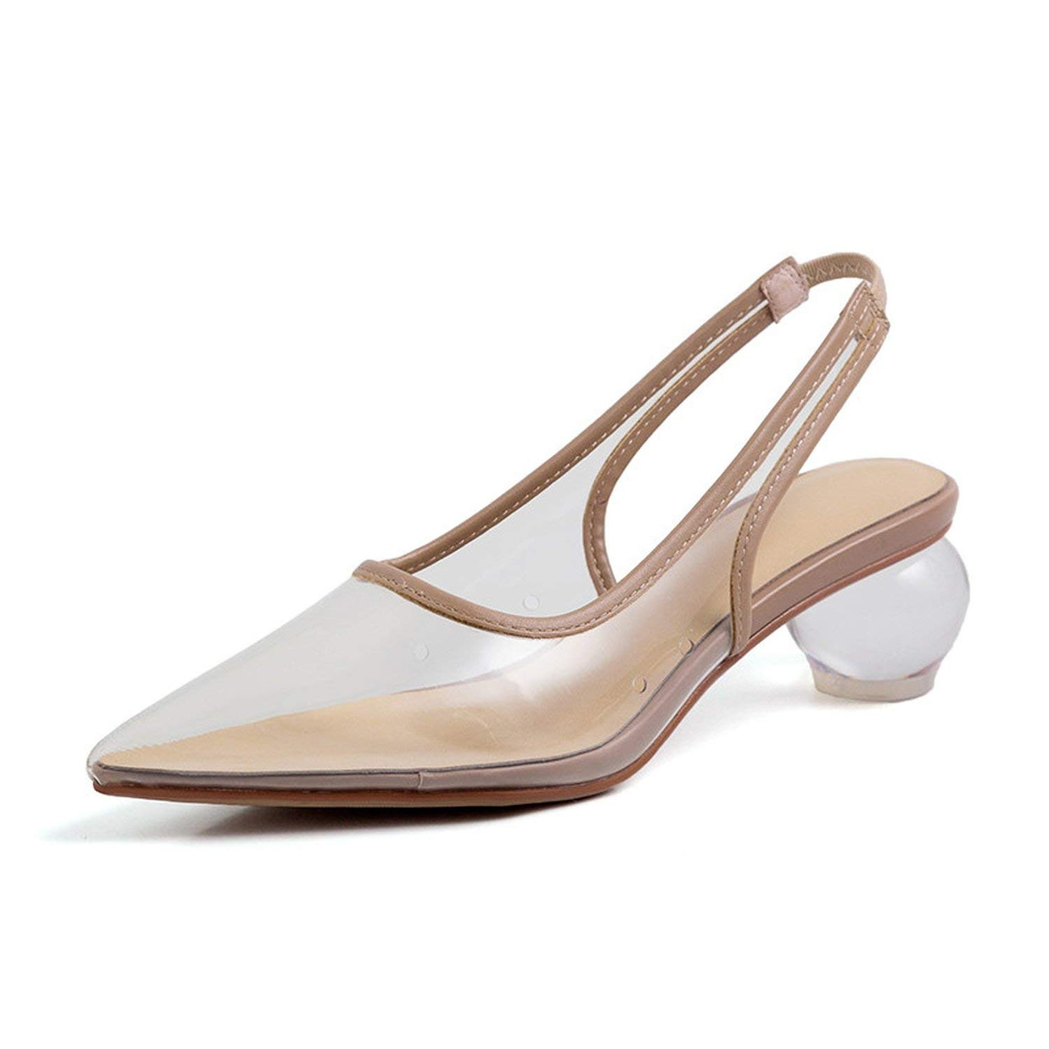 Khaki I Need-You Pointed Toe Sexy Fashion Party Woman Sandals Transparent Crystal Heels Ladies Sandals Mixed colors Sandalias women 2019