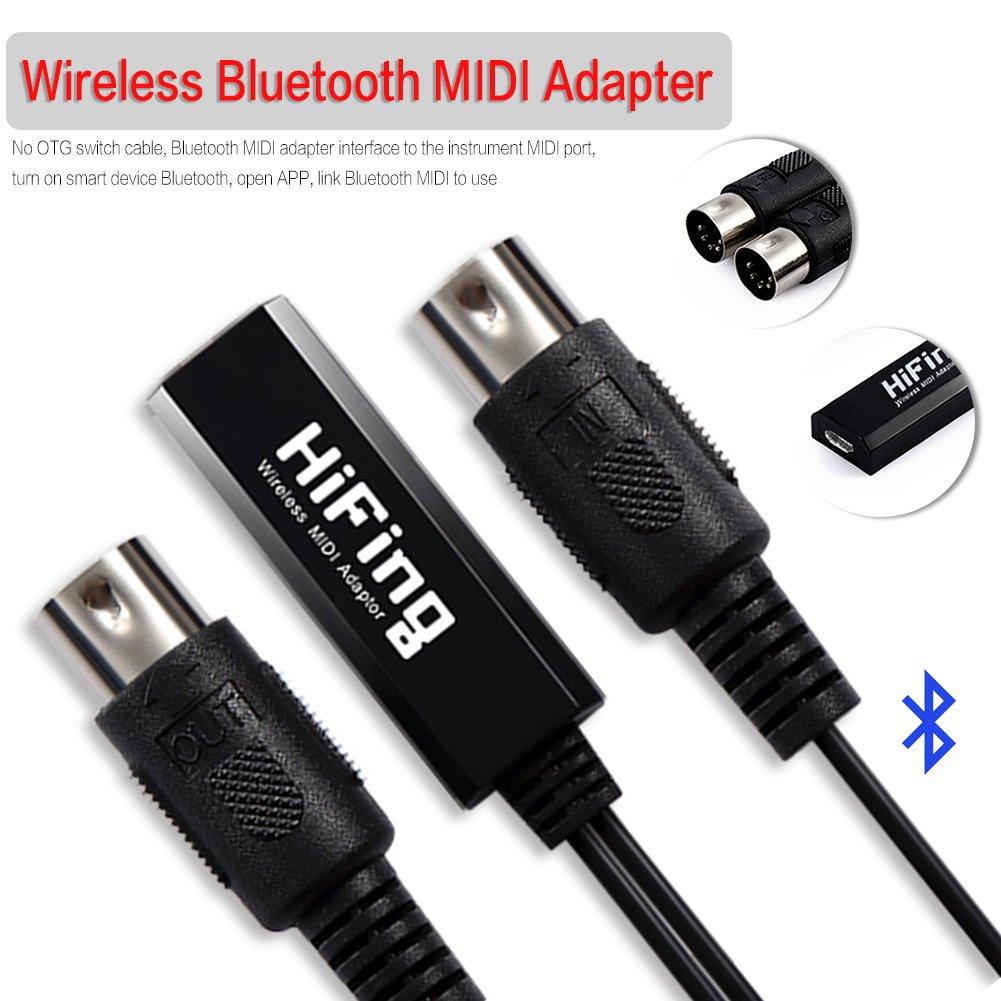 MIDI Adapter cable,Wireless Bluetooth MIDI Adapter 5-Pin DIN MIDI Adapter Extension Cable,MIDI 5-Pin DIN Male to Female Audio MIDI/AT Adapter Cable for MIDI keyboard perfectshow DD0039700|posi-CA