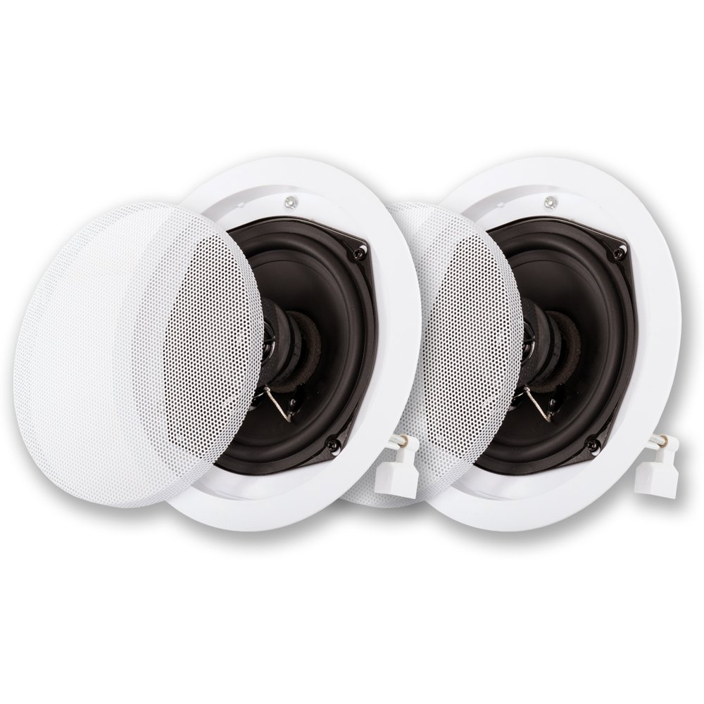 Acoustic Audio by Goldwood Surround Home Theater Speaker Set of 2 White (R-191)