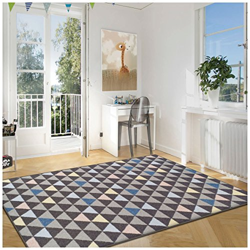 Superior Pastel Aztec Collection Area Rug, 6mm Pile Height with Jute Backing, Affordable and Contemporary Rugs, Multicolored Geometric Pattern - 5