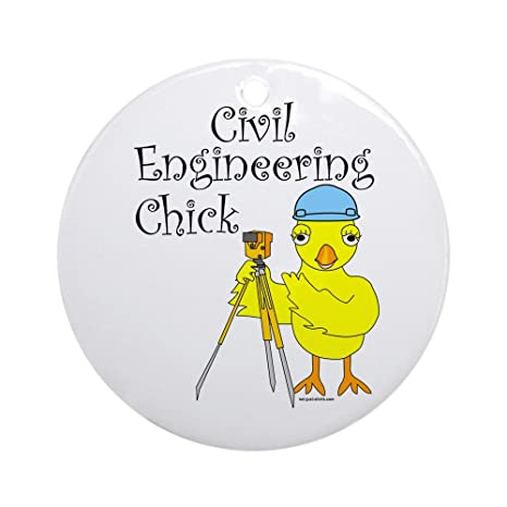 Amazon.com: CafePress – Ingeniero Civil Chick Ornamento ...