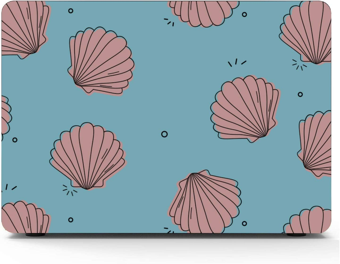 Case for MacBook Summer Seaside Seashells Starfish Plastic Hard Shell Compatible Mac Air 11 Pro 13 15 A1707 MacBook Pro Case Protection for MacBook 2016-2019 Version