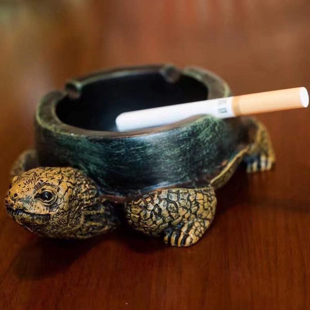 laamei Cenicero de Tortuga Creativa Artesan/ía /Único de Humo de Cigarrillo Bandeja Decoraci/ón de Protecci/ón Ambiental de Accesorios Port/átiles Cigarrillo Cenicero con Tapa