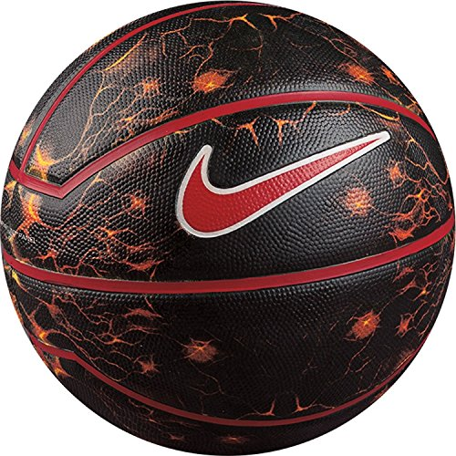 """LeBron XII Playground Official Basketball (29.5""""), Black/White/Red, One Size"""