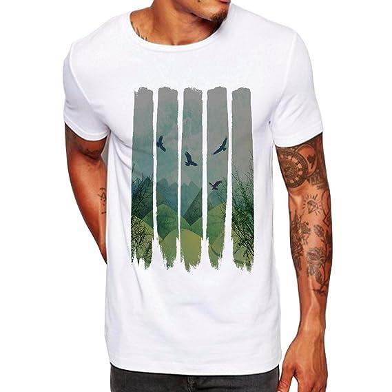 Hombres Que Imprimen la Blusa de la Camiseta de Manga Corta ...