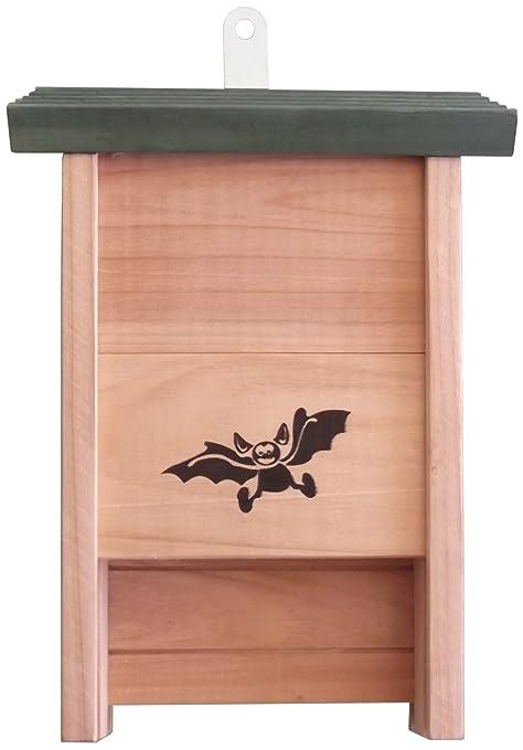 Caseta de madera con murciélago