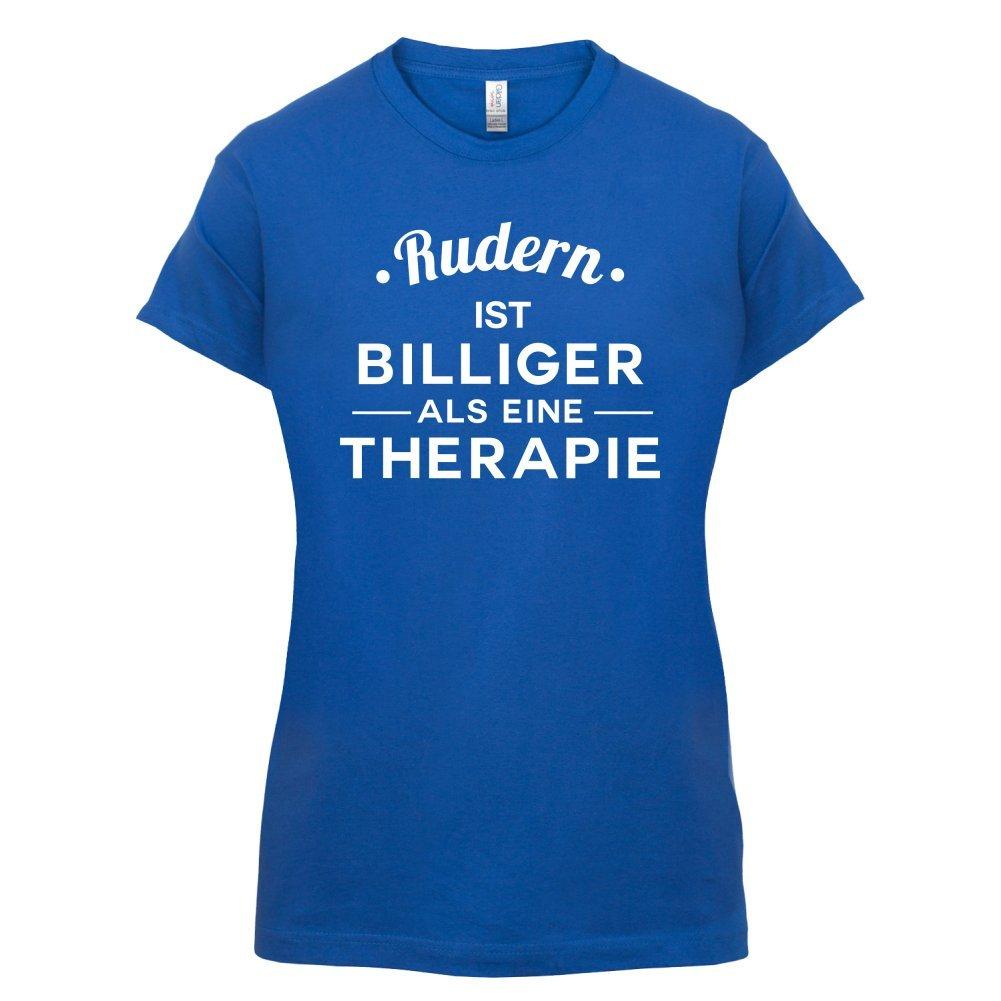 Rudern ist billiger als eine Therapie - Damen T-Shirt - 14 Farben:  Amazon.de: Bekleidung