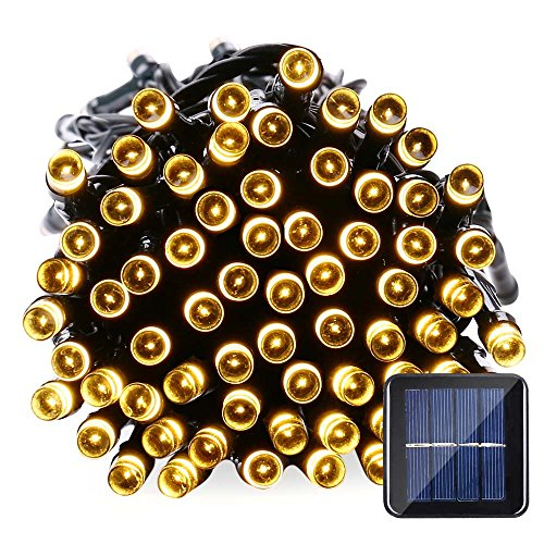 100 White Solar Led String Lights - 2