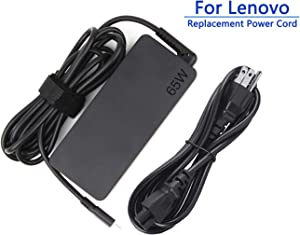TYZEST 65W USB-C AC Adapter for Lenovo ThinkPad T480 T480S T580 T580s T570 E580 E585 E480 L380 L480 L580 Yoga C930-13, Yoga S730-13, Yoga 920-13, Yoga 730-13 Type C Power Supply Cord