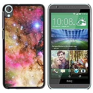 Estrellas En Rosa Gloria - Metal de aluminio y de plástico duro Caja del teléfono - Negro - HTC Desire 820