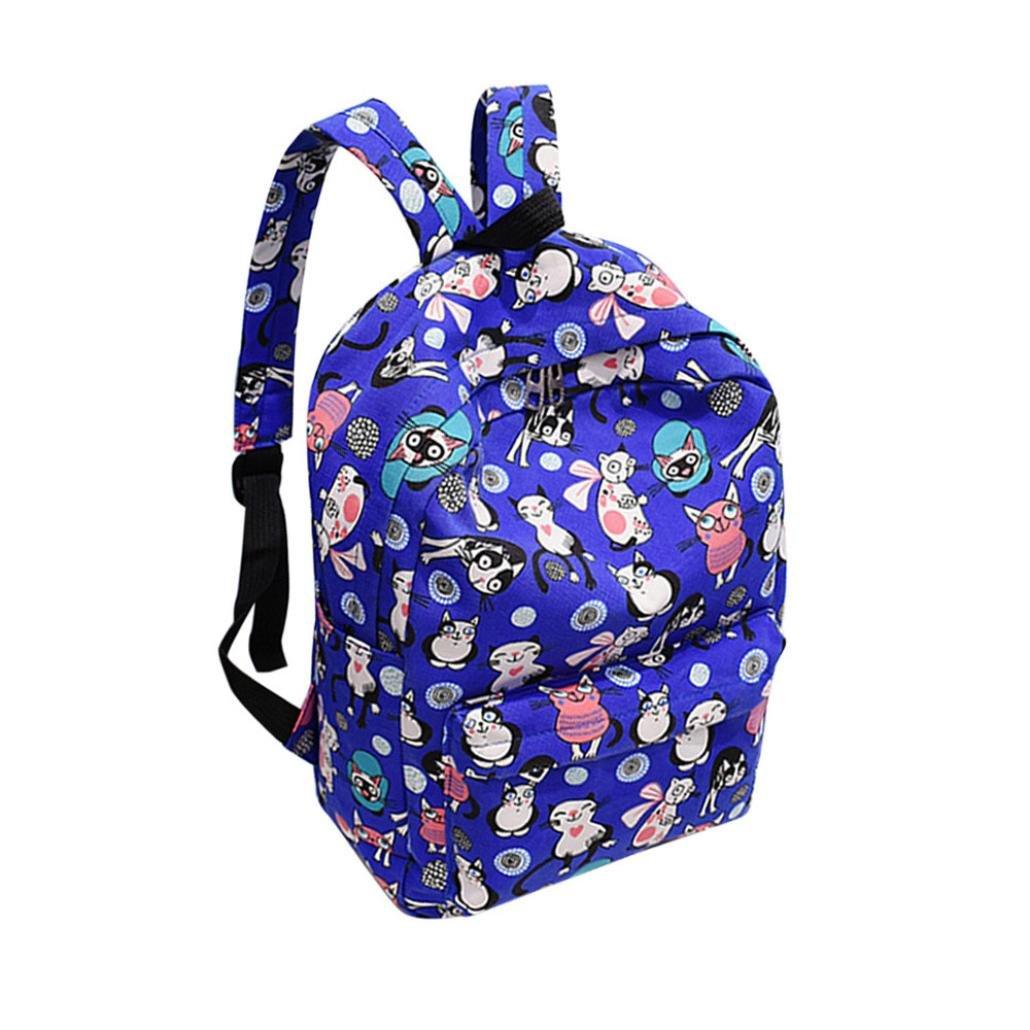 LQQSTORE zaino per studenti, Moda Colore del gatto Zaino di tela Borsa da viaggio per borsa da scuola