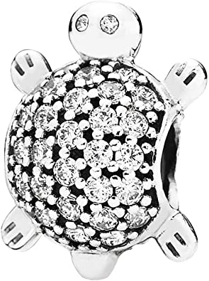 Rose Red Tortoise Sea Turtle 925 Sterling Silver Bead Fit European Brand Charms