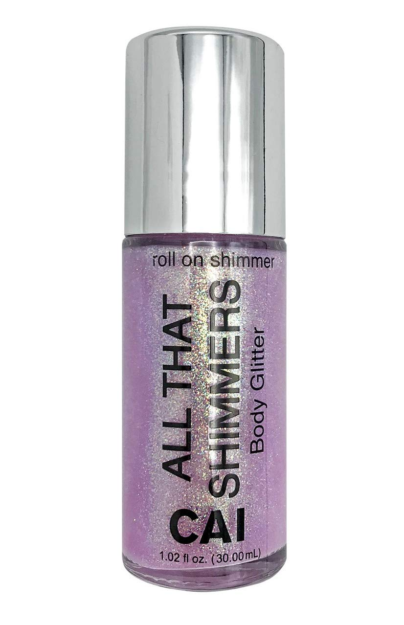 Body Glitter Face Or Hair Roll On Shimmer Holographic Cosmetic Grade Glamour, Platinum