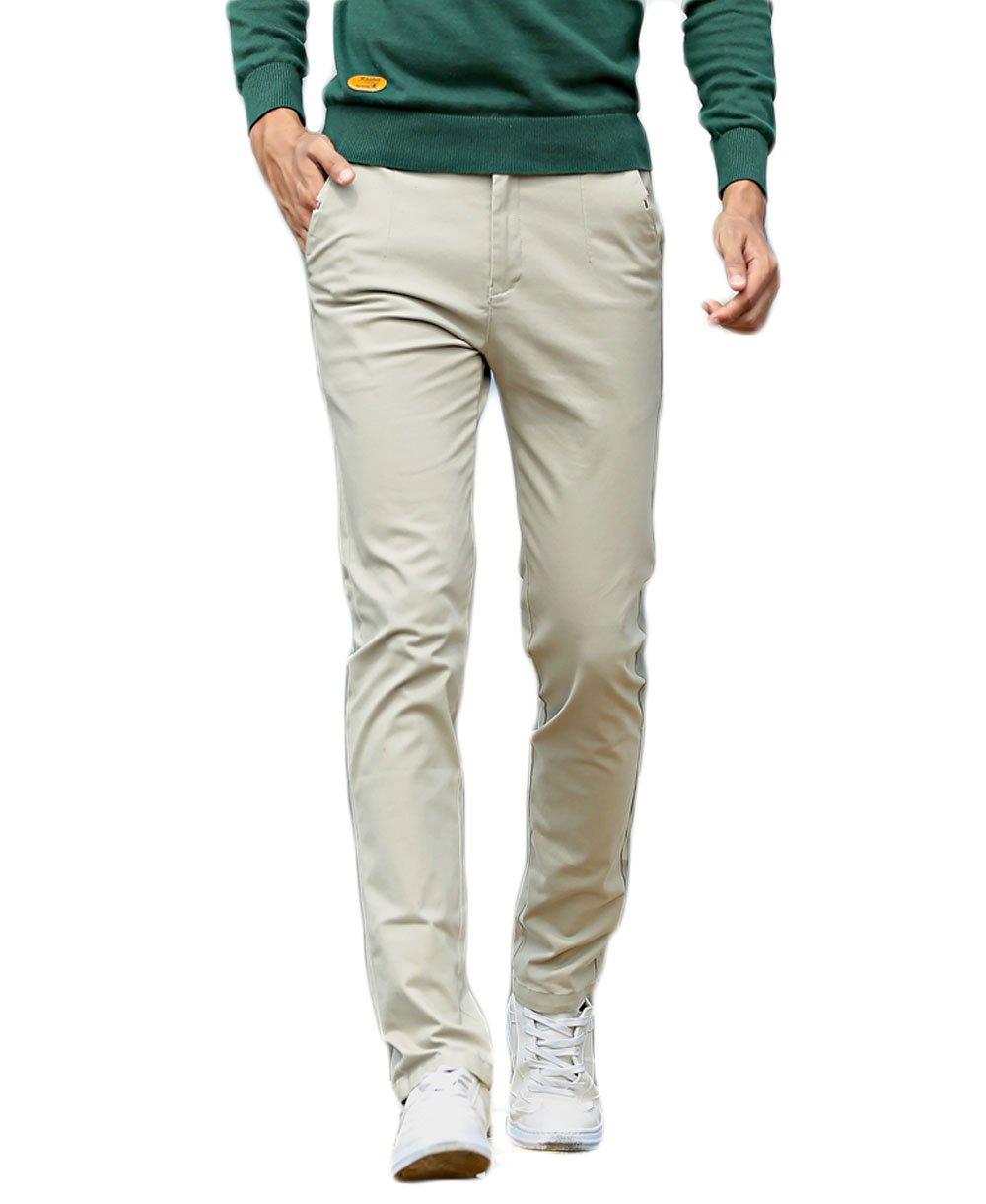 OLUOLIN Men's Modern Slim-Fit Stretch Chino Kaqi Pant Size 30