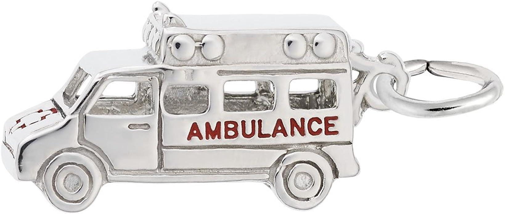 alloy charm Emergengy Mecidal Technician EMT Charms 12 pc Ambulance charm box 3 wholesale charm EMT