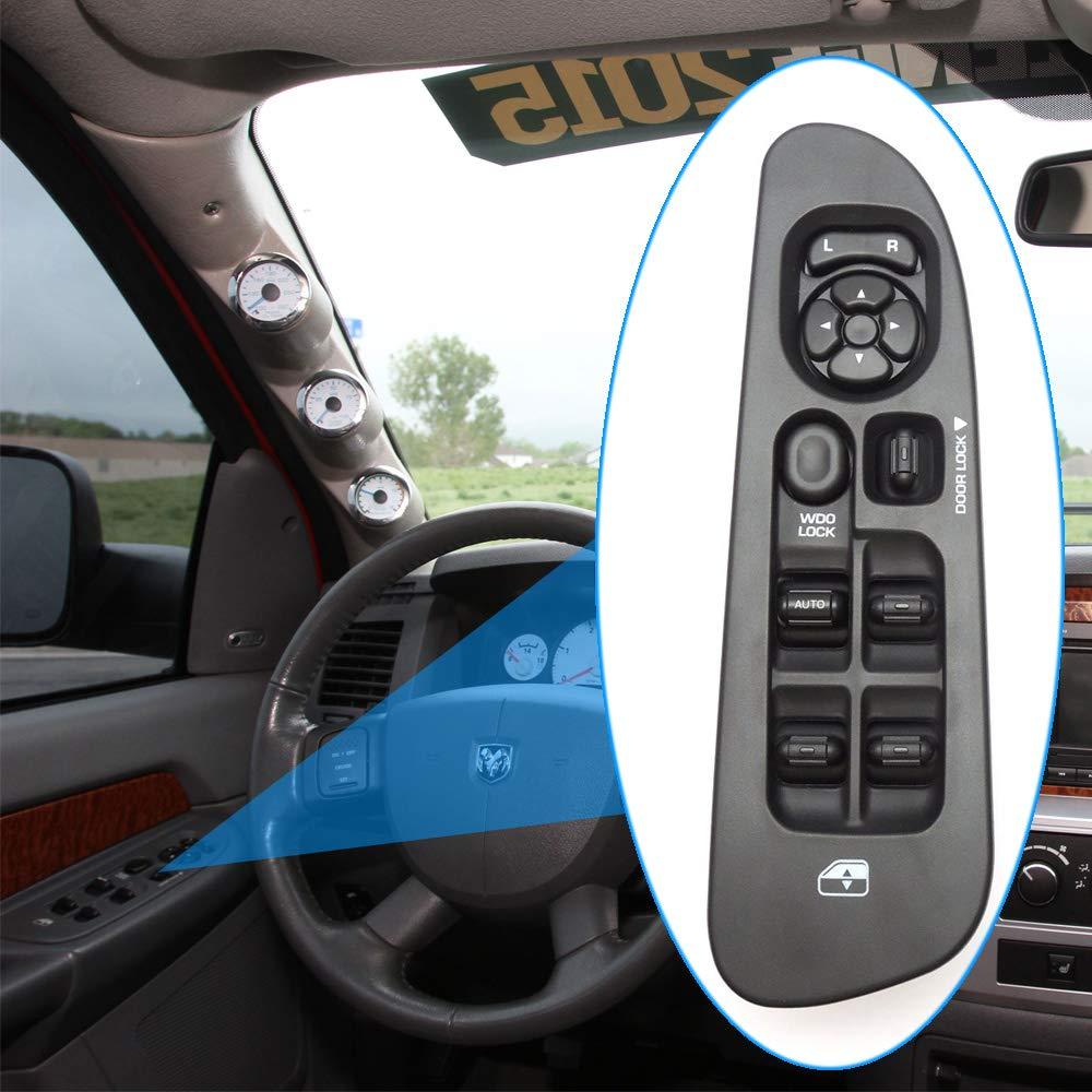 2001-2003 Dodge Durango,2005-2009 Dodge Sprinter 2500 3500 2001-2004 Dodge Dakota Master Power Window Switch and Bezel 56049805AB for 2002-2009 Dodge Ram 1500 2500 3500