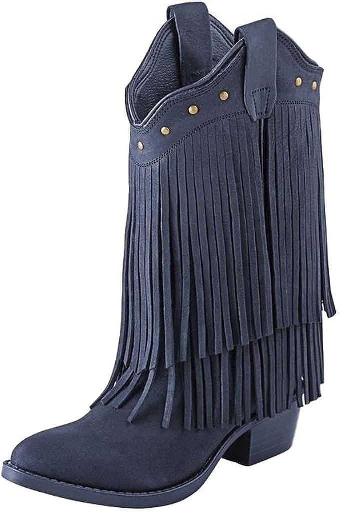 girls black fringe boots