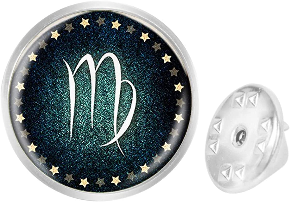 Custom Lapel Pin Brooches Virgo Zodiac Banquet Badge Pins Trendy Accessory Jacket T-Shirt Bag Hat Shoe