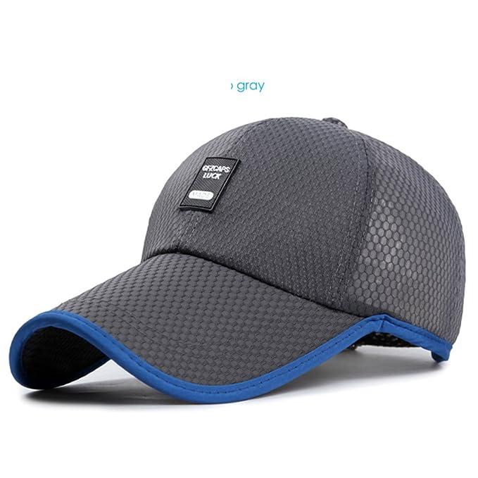 Sombrero Gorros para hombres verano al aire libre respirables  largo malla  sombrero de béisbol Versión coreana de la visera Sombrero para el sol-F ... 60c1b95c750