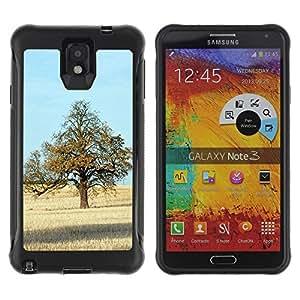 Pulsar Defender Series Tpu silicona Carcasa Funda Case para SAMSUNG Galaxy Note 3 III / N9000 / N9005 , Nature Beautiful Forrest Green 71