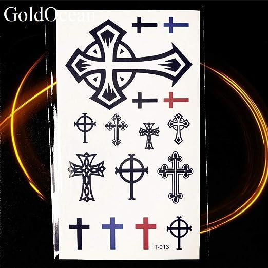 Yyoutop 10.5x6 CM Negro Chuchería Cruz Cristo Tatuaje Pegatinas ...